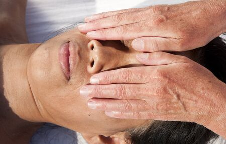 Japanese facial massage  Stock Photo - 15743039