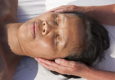 Japanese facial massage  Stock Photo - 15743025