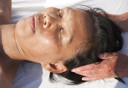 Japanese facial massage  Stock Photo - 15742702
