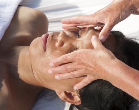 Japanese facial massage Stock Photo - 15742697