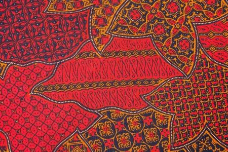 batik: Détail d'un batik d'Indonésie