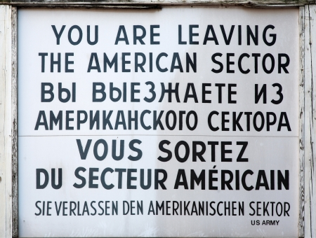 checkpoint: Checkpoint Charlie sign