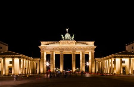 east gate: Brandenburg Gate at night