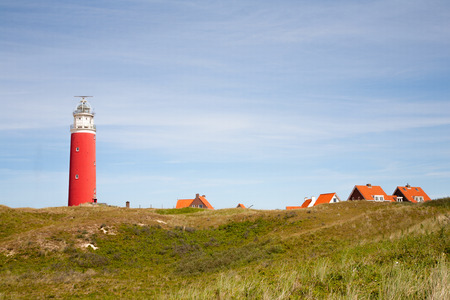 texel: red lighthouse Stock Photo