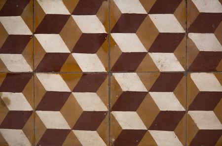an antique: antique tiles Stock Photo