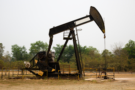 Pump Jack in an oil well in Tanjung, Kalimantan, Indonesia