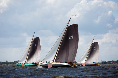 Elahuizen, Friesland, The Netherlands - August 10, 2018; Sk?tsjesilen is a Frisian regatta with sk?tsjes at the Frisian Lakes, Friesland, The Netherlands