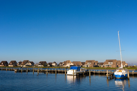 Holiday homes on the waterfront in Friesland, the Netherlands