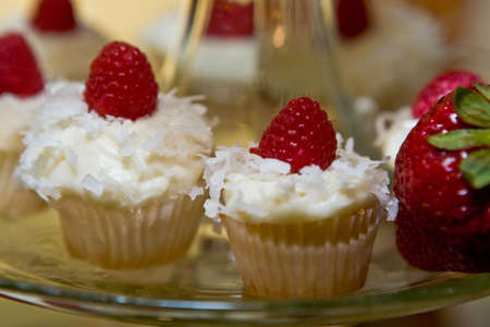 yum: Gourmet cupcakes... Yum! Stock Photo