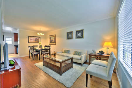 appointed: Well Appointed Showcase Living Room with Interior Decoration