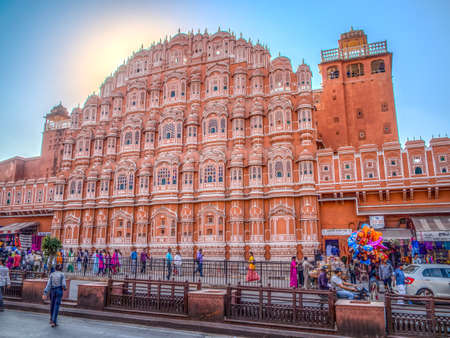 chand: The Hawa Mahal, the palace of the wind, is Jaipur