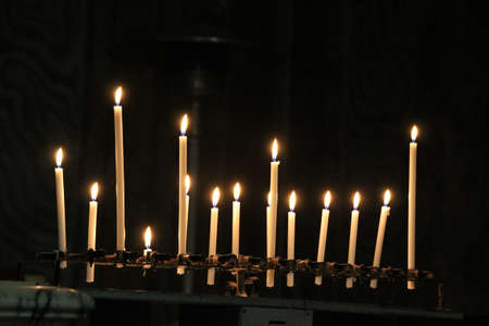 memorial candle: Candles Stock Photo