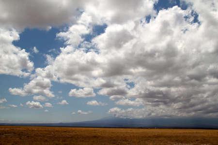 Wolken boven de Savannah Stockfoto