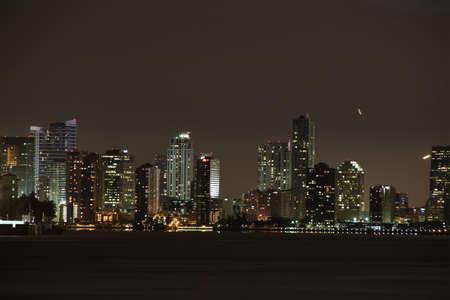 Miami 's nachts Stockfoto