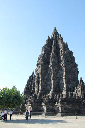 Prambanan Hoofdtempel Stock Photo