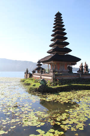 Pura Ulun Danu Batur Stock Photo