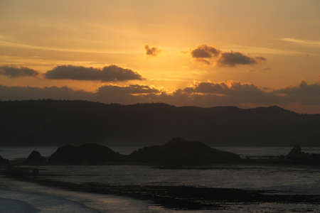 Lombok Sunset Stockfoto