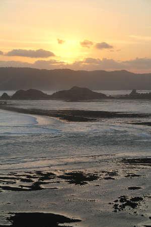 california coast: Lombok Sunset Stock Photo