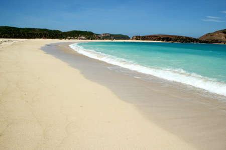 Tropical beach Tanjung 'Aan sur l'�le de Lombok