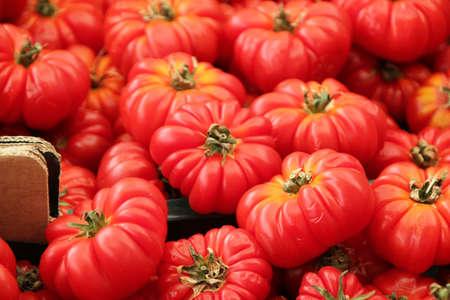 Tomaten bij Traditionele markt in Rome Italië