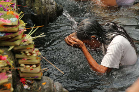 Ritual Bathing Purification Ceremony at Tampak Siring, Bali