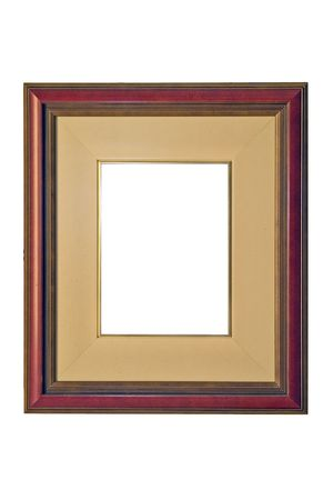matted:  empty picture frame