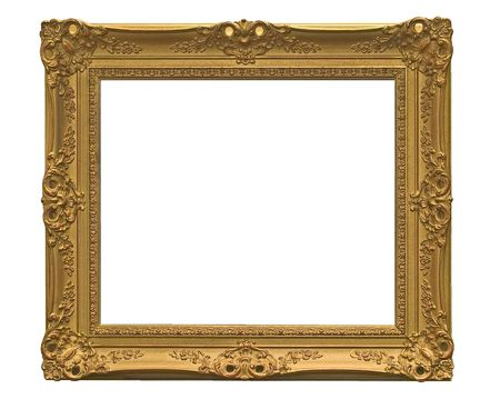 empty picture frame(with clipping ) photo