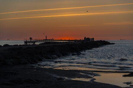 breakwater: sunset at breakwater