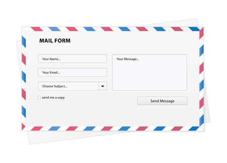 Mail the form to send e-mail in an envelope Stock Vector - 13119936