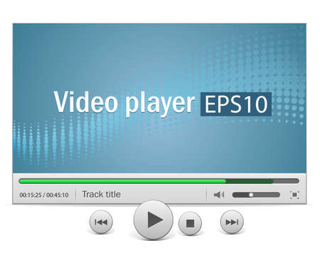 Video movie media player with icons