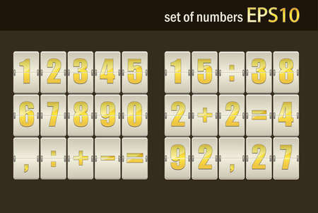 Number set from 1 to 9, illustration  Vector
