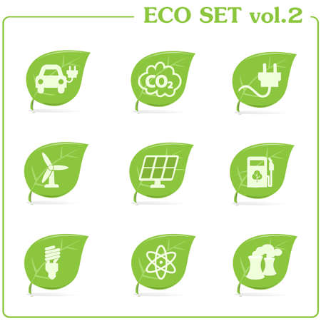 the greenhouse: green ecology icon set  Vol  2