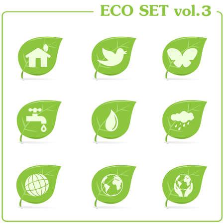 green ecology icon set  Vol  3
