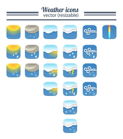 Set of 21 high quality  weather icons