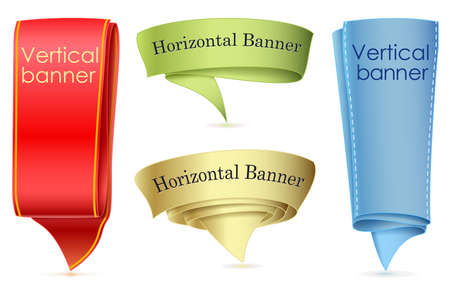 Abstract scroll  banner, speech bubble Vector