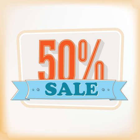 illustration of vintage sale  for design Illustration