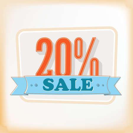 illustration of vintage sale  for design Vectores