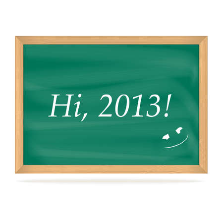 School Board with number of new year 2013, vector eps10 illustration Stock Vector - 15995061