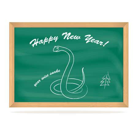 School Board with snake, vector eps10 illustration Stock Vector - 15995062