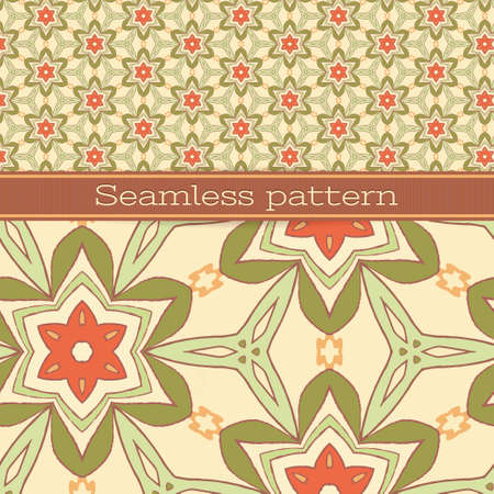 Seamless pattern for wallpaper, pattern fills, web page background, surface textures  Illustration