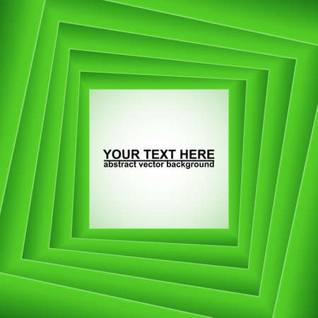 Green squares, abstract end edited  background Vector