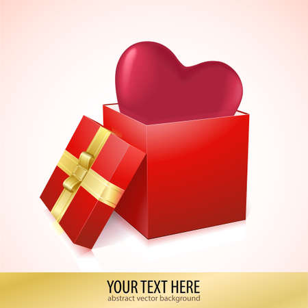 Open box with heart vector illustration Stock Vector - 17514757