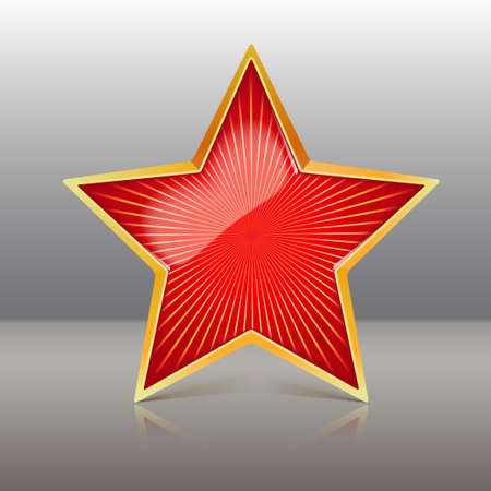 Red Star Vector Illustration illustration