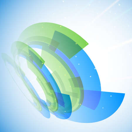 Blue and green abstract background for your business artwork Illustration