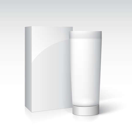 Box and tube of cream for advertising and branding