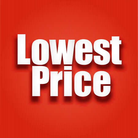 lowest: Lowest price poster,  vector illustration