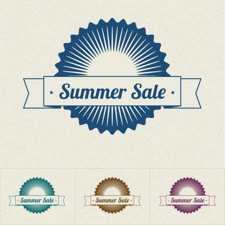Summer Sale tags, vector illustration