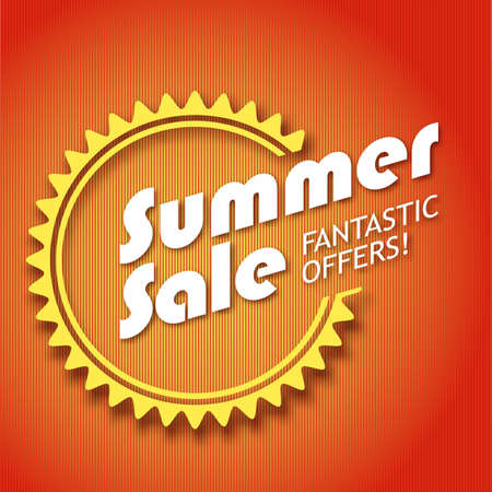 mall signs: Summer sale poster,  vector illustration