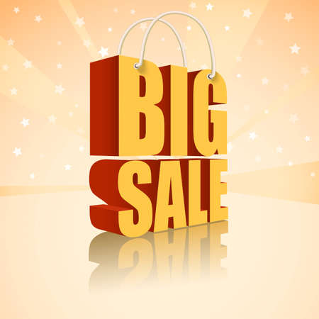 Big sale text, vector illustration