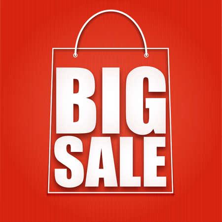 shopping bag: Big sale poster, vector illustration for your design